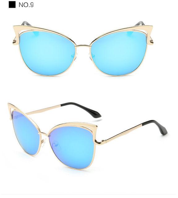 Luxury Cat Eye Sunglasses Women Brand Designer Retro Vintage Sun Glasses For Women Female Ladies Sunglass Mirror Lunettes Oculos (20)