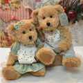 30 cm 2 pieces couple teddy bear with clothes soft plush stuffed toy high quality lover wedding gift valentine gift
