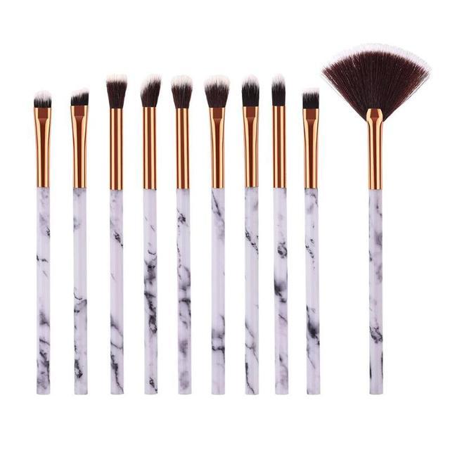 1/6/10Pcs Marbling Makeup Brushes Kit Marble Pattern Brush Set Eye Shadow Beauty Make Up Brush Cosmetic Tools Hot Sale 1