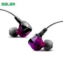 Salar F Heavy Bass Earphone Stereo Earbuds Noise Isolating Sport Earphones With Mic for iPhone Samsung Mobile Phone earphone