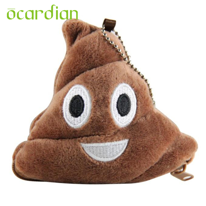 Wallets Attractive New Hot Sale Poo Pillow Plush With Soft Emoji Emoticon Womens Coin Purse Gift cheap ladies Carteira 17Apr27