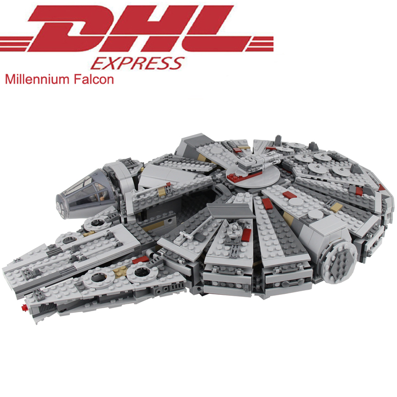 1381Pcs Star Wars Figures The Force Awakens Millennium Falcon Model Building Kit Blocks Bricks Toy For Children Compatible 75105 lecgos building blocks super heroes star wars x wing fighter millennium falcon the force awakens compatible with lecgos