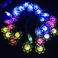 Solar Lighting color Party Decorations String Lights Ball String Lights ,Water Proof (Includes 30 LED Lights with 4 Colors)