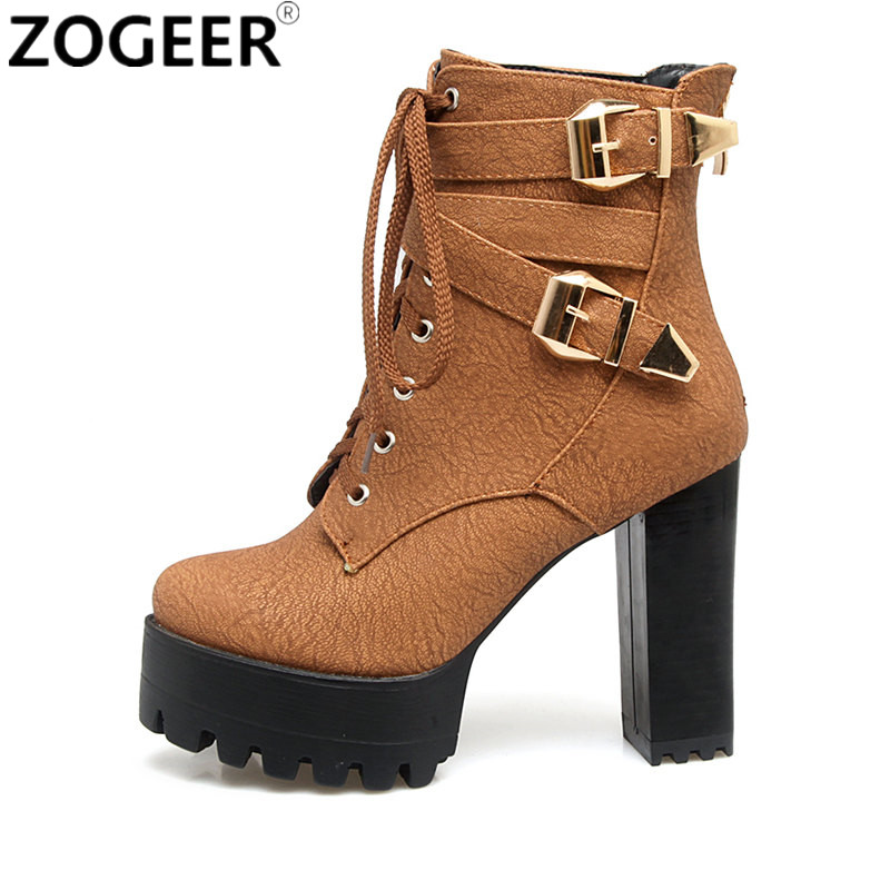 Womens Peep Toe Punk Ankle Boots Shoes High Heel Zip Buckle Strap Stilettos Size