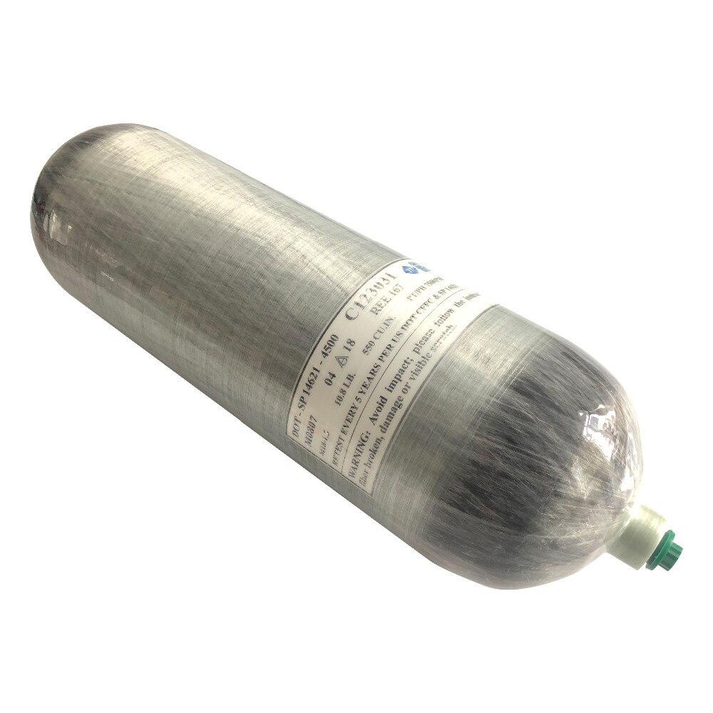 Acecare HPA Chaude DOT PCP Air Paintball Réservoir 9L Composite Fiber De Carbone Plongée sous-marine Réservoir Pour La Chasse