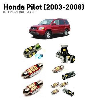 Led interior lights For Honda pilot 2003-2008  21pc Led Lights For Cars lighting kit automotive bulbs Canbus