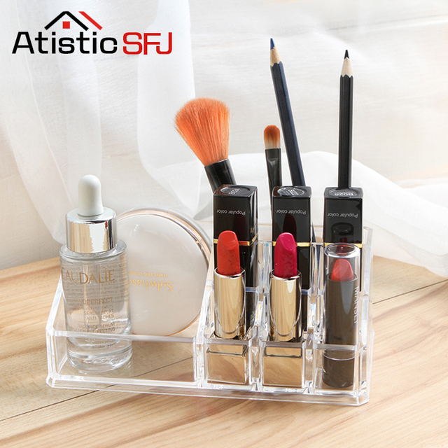 Atistic SFJ Makeup Organizer Acrylic Storage Box Clear Cosmetic Drawers  Jewelry Drawer Multi Function Makeup