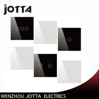 Touch Switch Black White Pearl Crystal Glass Panel Switch Wall Switch UK Standard Digital Touch Light
