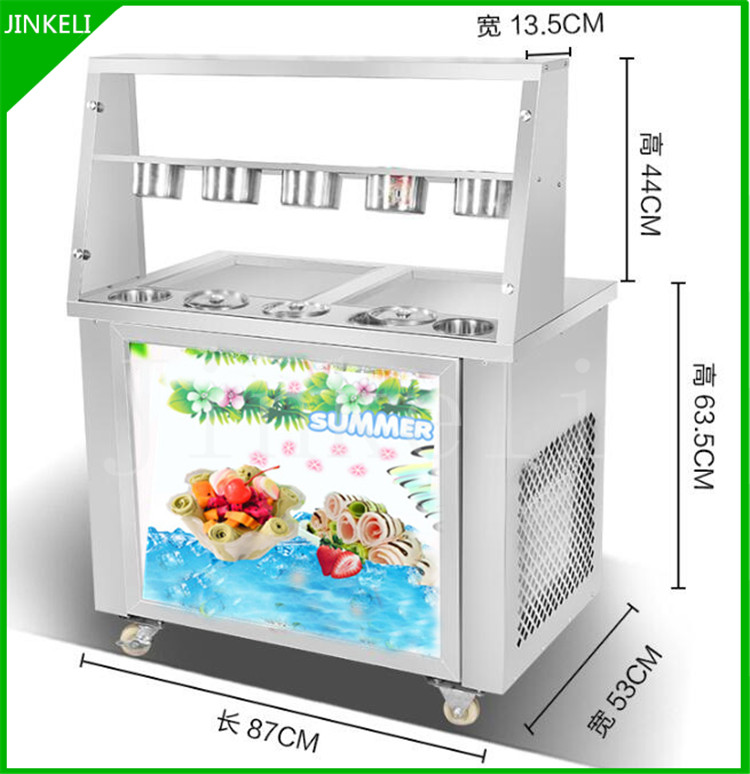 free air ship CE R22 double square pan stainless steel fried ice cream roll machine commercial fried thai ice machine for sale edtid new high quality small commercial ice machine household ice machine tea milk shop