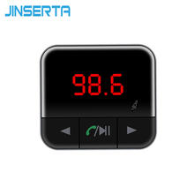 Jinserta Bluetooth-гарнитуры для Авто Аудио MP3-плеер fm-передатчик Поддержка TF Micro SD У диска LED Напряжение Дисплей Dual USB Зарядное устройство