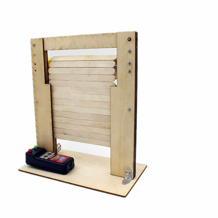 Electric Shutter Doorelectric Wooden Rolled Door Toysbest Gifts For Kidsscience Experiment Model Assembly Kit For Students