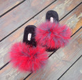 9 Colors Fur Flip Flops Women Sweet Platform Wedges Sandals Ostrich Feathers Slippers 2017 Summer Platform Thongs Beach Slippers