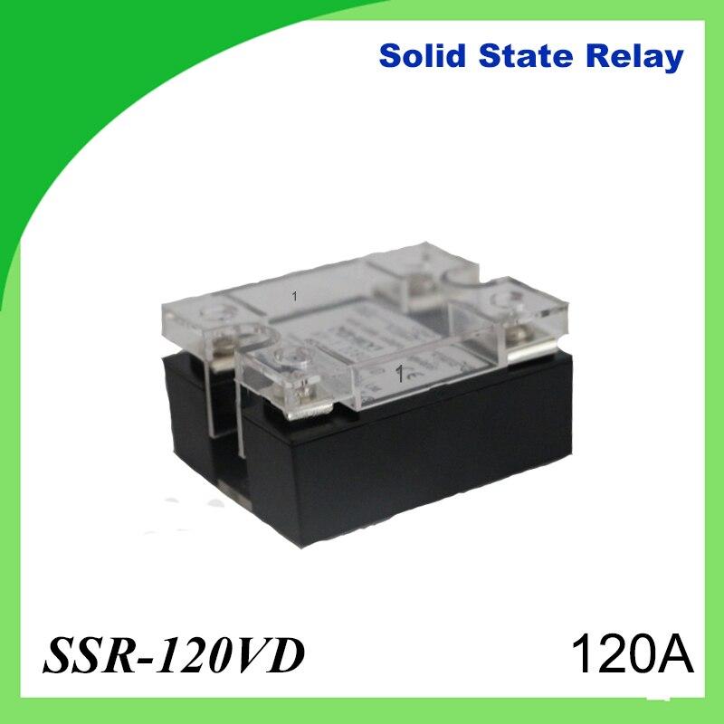 2 шт. 120a-ssr, вход постоянного тока 0-10 В однофазный ССР твердотельные реле регулятор напряжения Пластик чехол для Температура контроллер