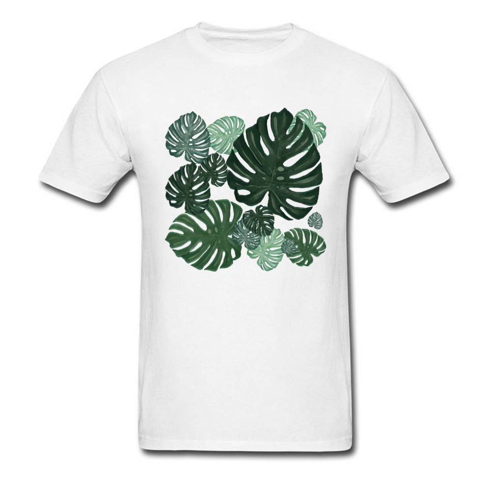 Tops Shirt Monstera Summer Discount Design Short Sleeve 100% Cotton O Neck Men T-shirts Design Sweatshirts Wholesale