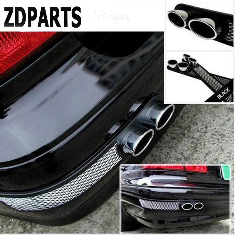 ZDPARTS 3D Car Carbon Chrome <font><b>Exhaust</b></font> Tail Pipes Bumper Stickers For Volkswagen <font><b>VW</b></font> <font><b>Golf</b></font> <font><b>4</b></font> 5 7 6 MK4 Honda Civic 2006-2011 Accord image