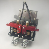RepRap Prusa i3 3D принтер металла двойной экструдер каретки полный kit1.75 мм двойной NEMA17 мотор с прямым экструдер для mendel Пру