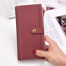 2019 Famous Women Wallet New PU Leather Long Clutch Wallets for Women Card Holder Hasp Zipper Coin Pocket Bifold Female Purse new fashion women wallets pu leather zipper wallet women s long purse two fold clutch card bag casual hasp dollar price wallet