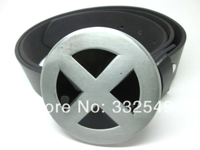 X Men Logo Metal Buckle With Free Belt Free Shipping Worldwide In