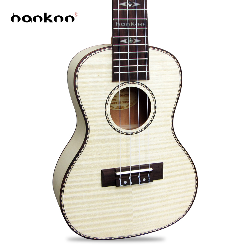 23 inch Concert Ukulele Guitar Handcraft made of Flame Maple 4strings Acoustic Guitarra for adult /children using instruments купить дешево онлайн
