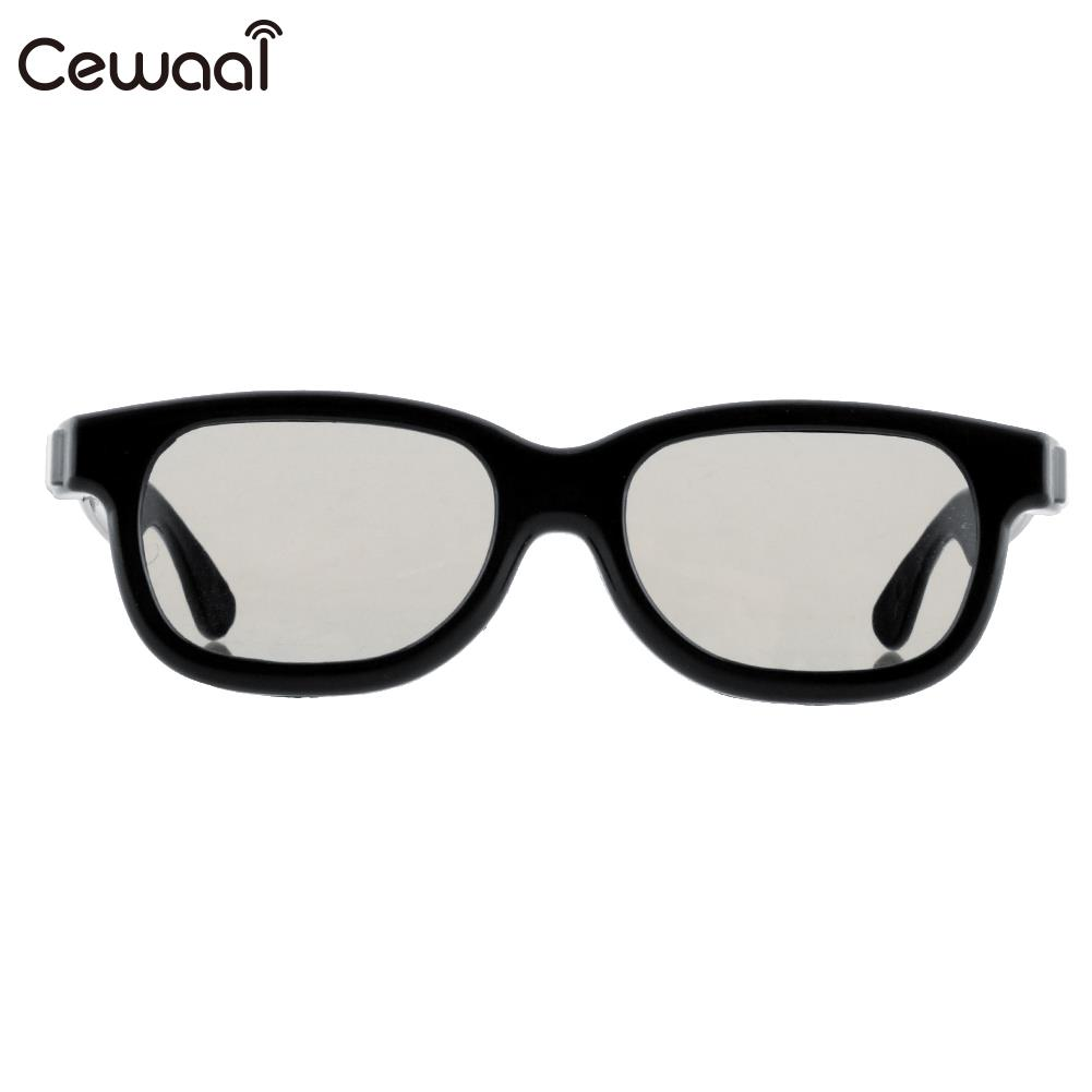 b718666c638 Cewaal High-quality Black Round Polarized 3D Glasses Movie DVD LCD Video  Game Theatre TV Theatre Movie Circular Wholesale