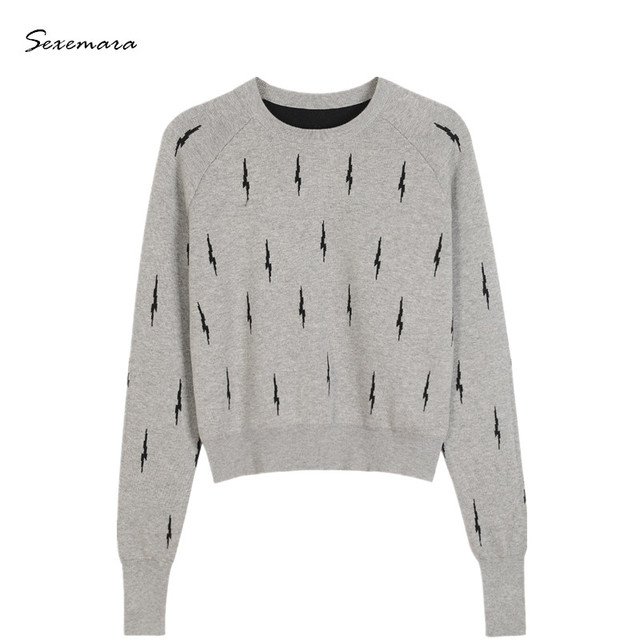 06209789c8 sweater pullover jumper women wool knitted lightning sweaters knitwear high  quality grey color 2017 new arrivals
