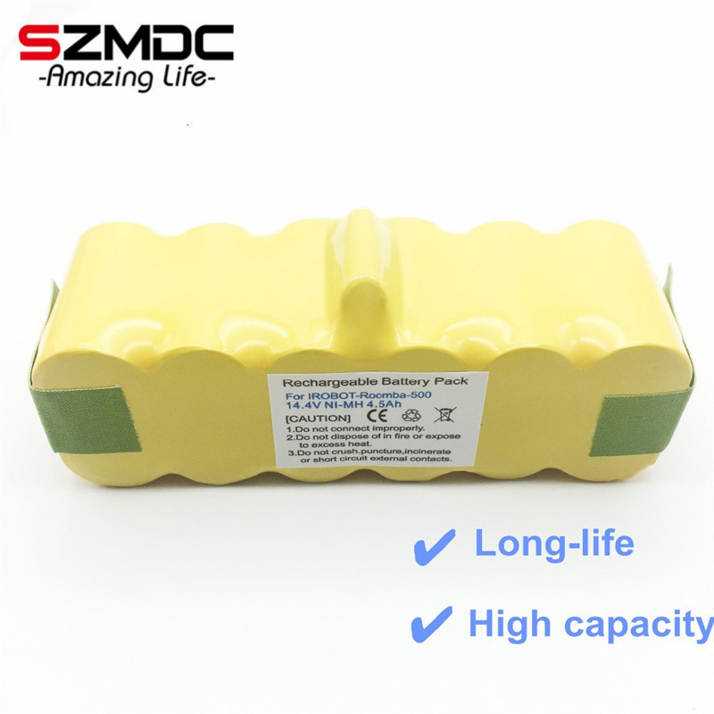 SZMDC 14.4 V 4500 mah NI-MH APS Vuoto Batteria per iRobot Roomba 500 530 510 550 560 570 540 R3 780 790 880 Batteria robotica