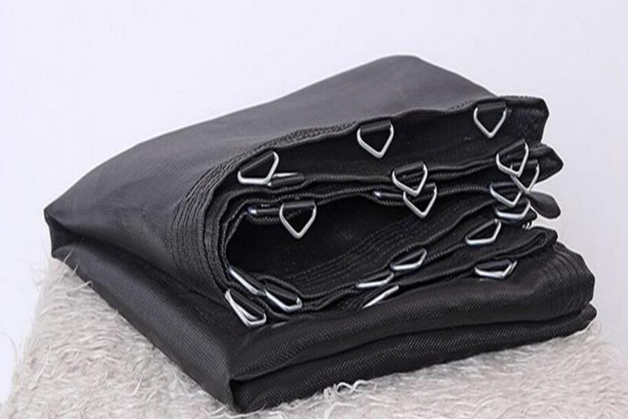 Bon tapis de lit de saut de tissu de trampoline d'élasticité adapté aux besoins du client