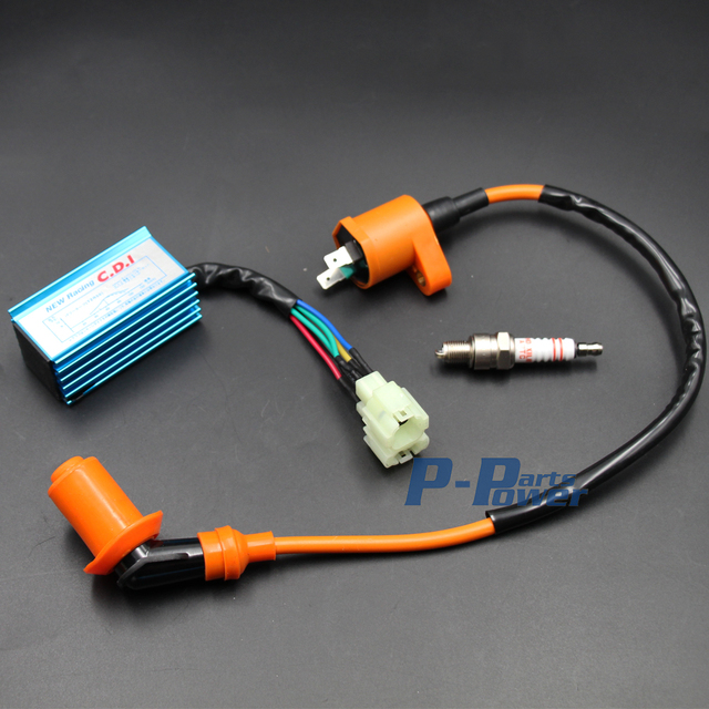 Aliexpress com : Buy Performance Racing CDI+Ignition Coil+Spark Plug Gy6  50cc 125cc 150cc Scooter ATV new from Reliable Motorbike Ingition suppliers