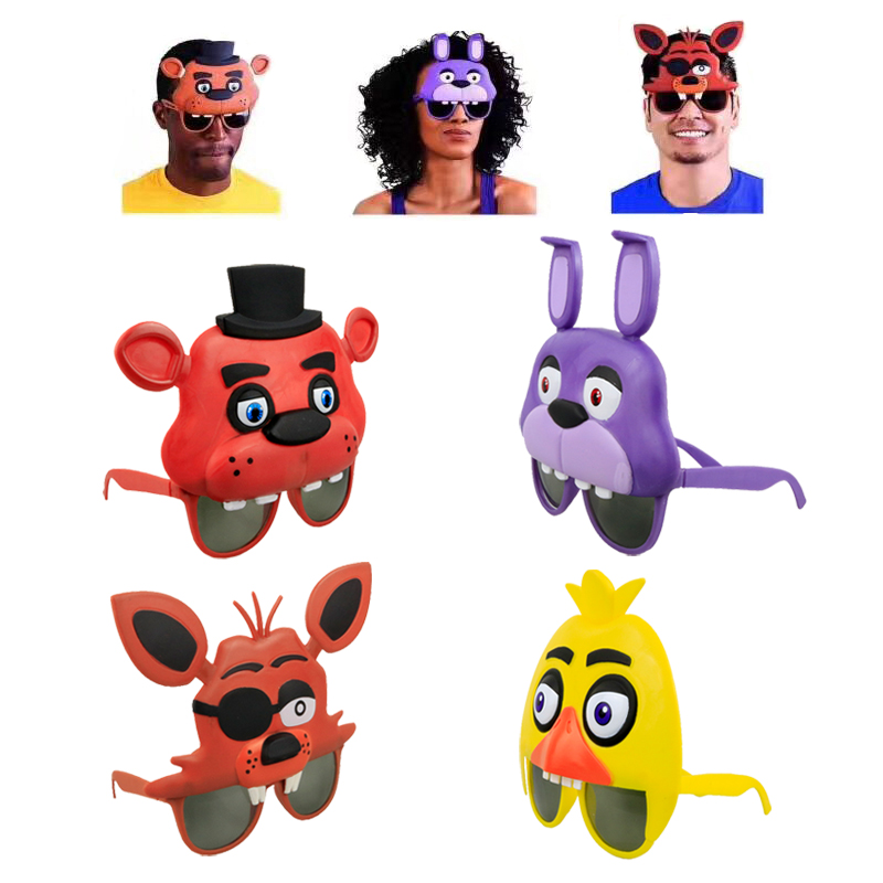 DIVERSION Five Nights At Freddy's Party Mask Action Figure FNAF Bonnie Foxy Freddy Mask Halloween cosplay props with Opp Bags