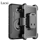 Lzcxi For Samsung S8 Case Silicone Ring Swivel Cover For Samsung Galaxy S8 Plus S5 S6 S7 edge Belt Clip Stand Case Note 5 4 3