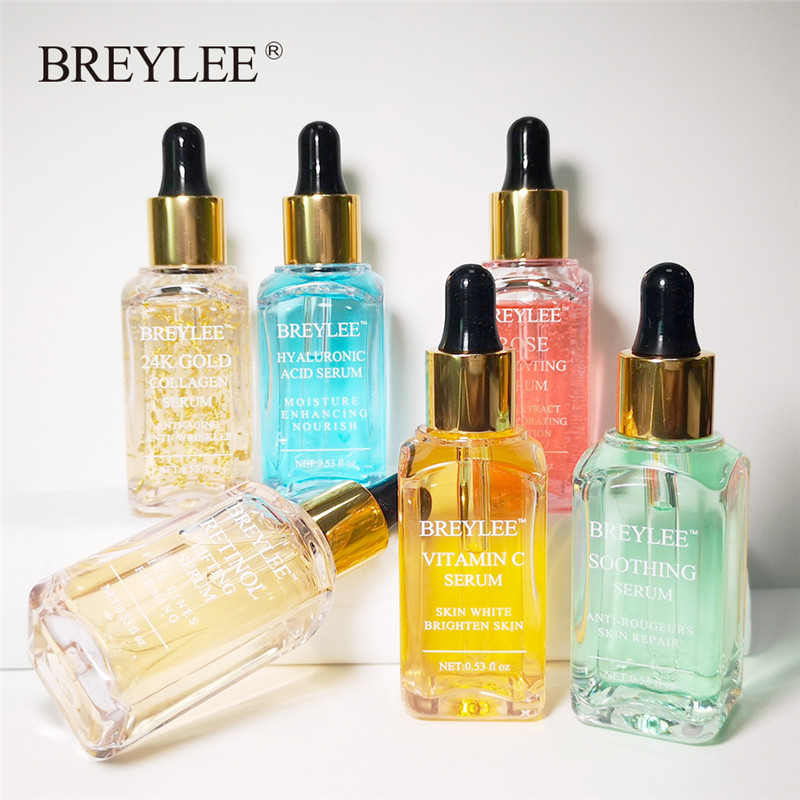 BERYLEE Serum Series Hyaluronic Acid Rose Nourishing Vitamin C Whitening 24k Gold Firming Soothing Repair Face Care Essence 1pc