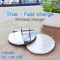 PZOZ Breathing light 10w wireless charger Qi wireless charger Pad for iphone Xs Max XR Samsung S10 Note 9 Fast Wireless Charger