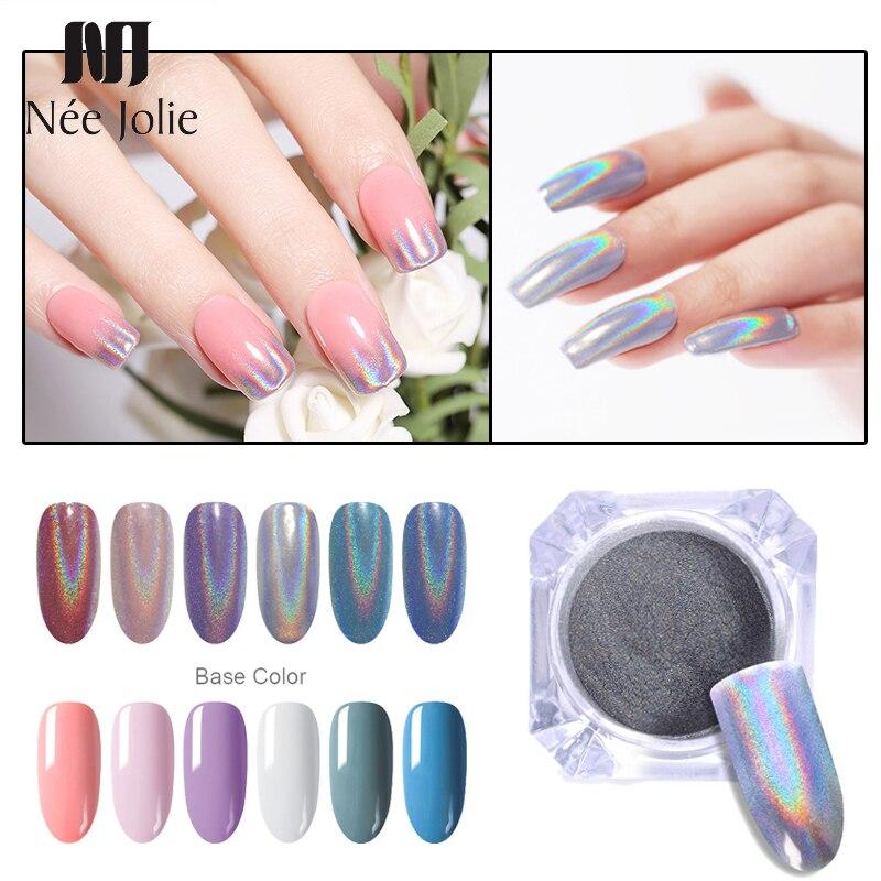 0.5g 1g  Laser Powder Pink Gradient Nail Art Glitter Chrome Powder Pigment  Nail Gel Polish Glitter Dust