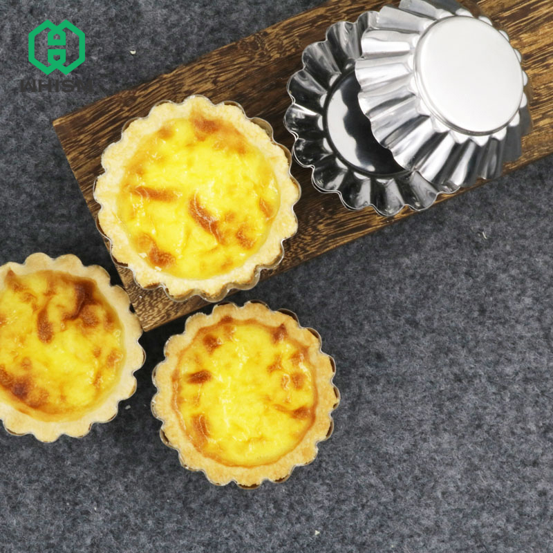 Whism 3d Flower Cup Egg Tart Mold Cake Pumpkin Baking