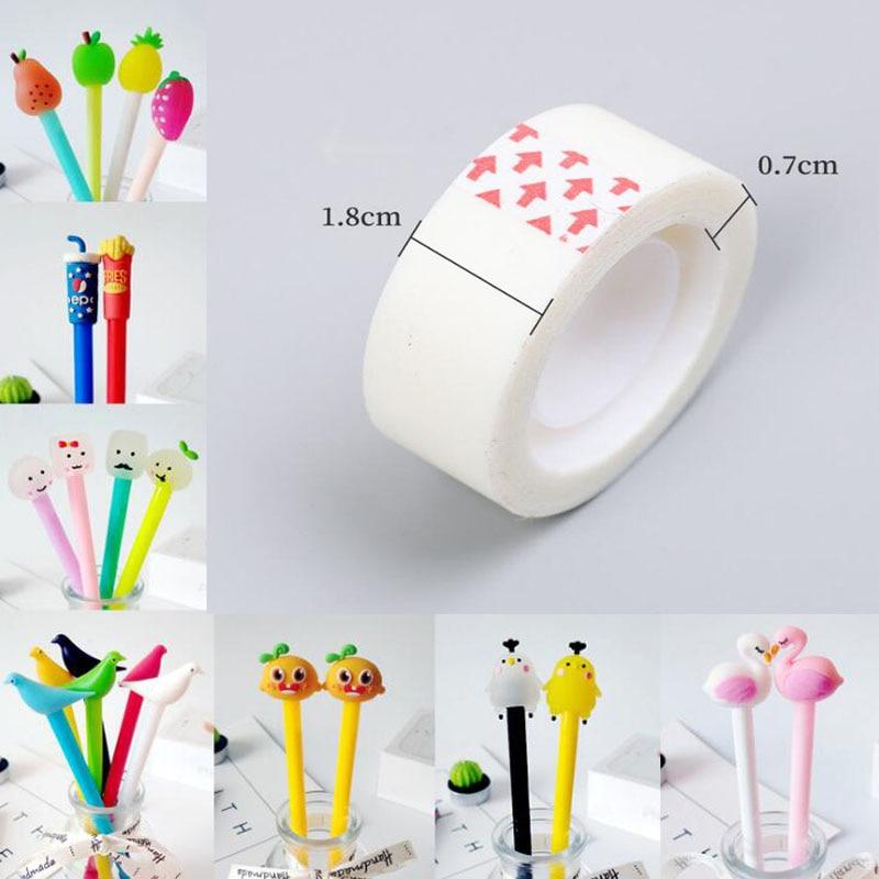 1PC Cute Kawaii Black Ink Cat Gel Pen Cartoon Plastic Pens For Writing Office School Supplies Korean Stationery Unicorn