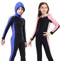 SBART  trajes de buceo de manga larga de nailon para niños/niñas  protectores contra sarpullidos de una pieza  surf  natación  Snorkel  niños|Bodis| |  -