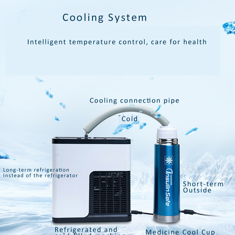 Micro Pharmacy Medicool Container Thermoelectric Cooler Diabetic Insulin Blood Refrigerator Cooling Air Machine For Cool Flask