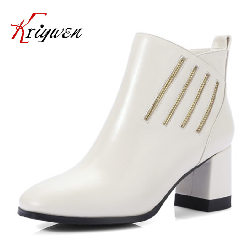 2017 Winter autumn square toe elegant lady ankle boots for women fashion lady genuine leather woman party shoes plus size 34-42 women autumn winter boots 2016 new fashion genuine leather shoes woman ankle boots low heel square toe black shoes riding boots
