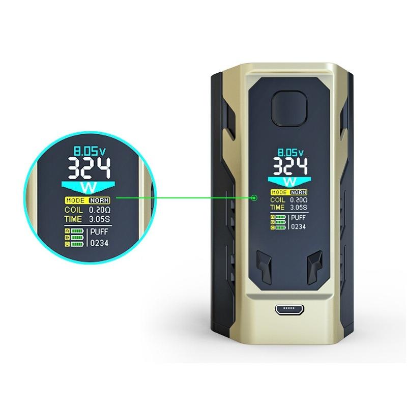 цена на newest E-Cigarettes IJOY Captain X3 BOX MOD Vape 324W with 3pcs IJOY 20700 Battery fit Captain X3 Subohm Tank E-Cigarettes mod
