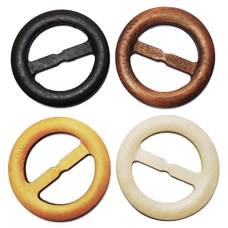 ZIEENE 100 pièces chaud mélangé 4 couleurs bois ceinture boucle grand 60mm boutons en bois couture Scrapbooking pour mariage femmes ceinture