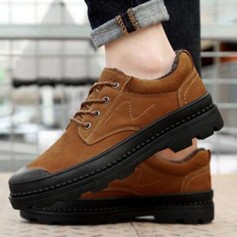 Otoño invierno caliente venta hombres plataforma zapatos de cuero - Zapatos de hombre - foto 6