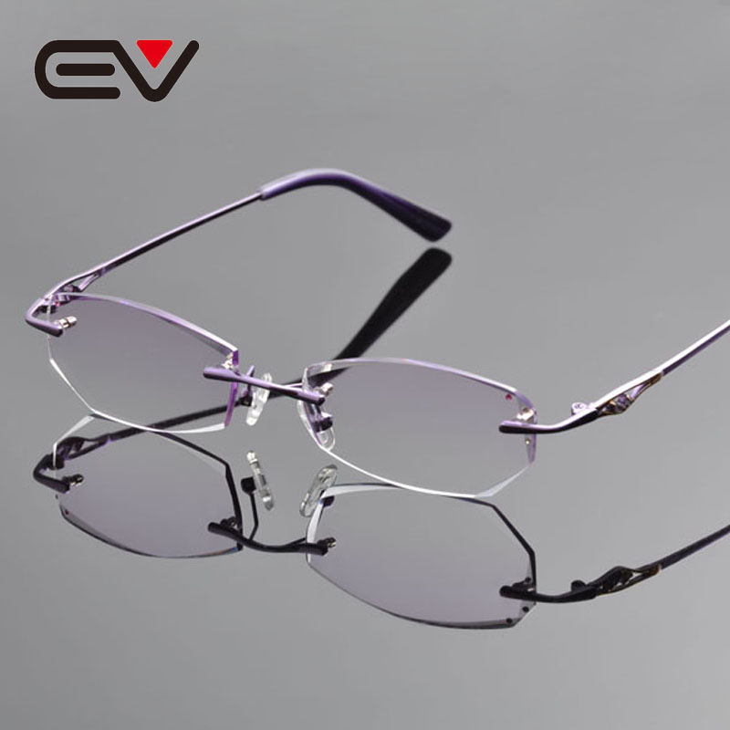 ecca20d68ff ᓂ2016 New Elegant Women Pure ๏ Titanium Titanium Diamond Cutting Eyeglasses  Frames ⊱ Graceful .. HELES Vintage Mens Womens Round Glasses Eyeglasses ...