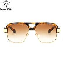 DRESSUUP Leopardo gafas de Sol de Los Hombres Diseñador de la Marca Gafas Shades UV400 Gafas de Sol de La Vendimia Gafas de Sol Gafas Masculino Hombre