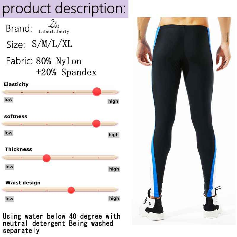 d1f10c84a3 ... Running Compression Tights Men Basketball Leggings Nylon Low Waist Homme  Patchwork Tights High Elastic Workout Beach ...