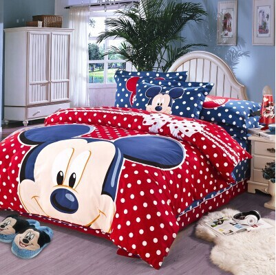 Perfect 2014 Sale Time Limited Designer Kids Bedding Mickey Set Size For Children/bed  Sheet