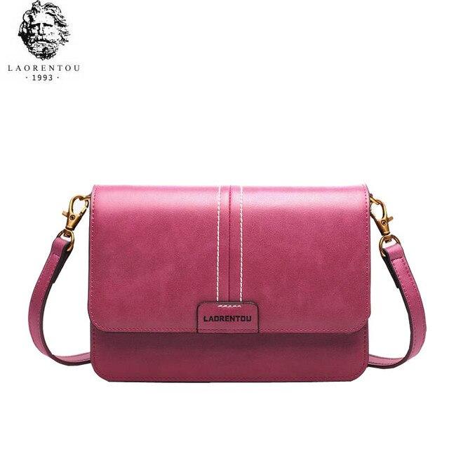 b1764a7d49f68 LAORENTOU yüksek kalite moda lüks marka 2019 yeni askılı çanta deri moda  omuzdan askili çanta vahşi
