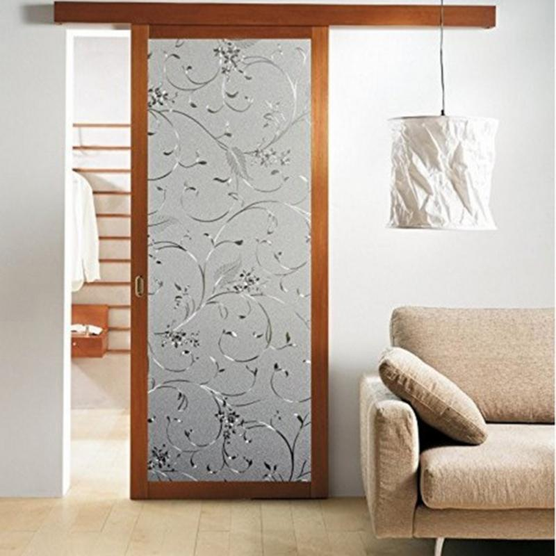 Incroyable Elegant Flower Decorative Self Adhesive Static Privacy Glass Window Door  Film 45x100 Cm Modern Bathroom Decoration 2017 New Gift In Decorative Films  From ...