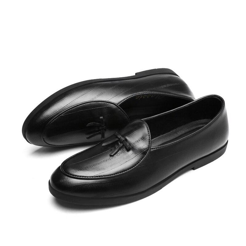 ffca064382 OUDINIAO Tassel Shoes Men Luxury Loafers Slip On Split Leather Men ...