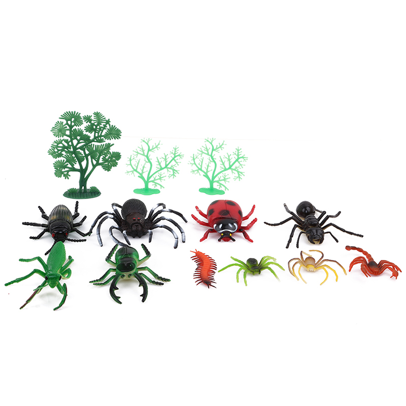 Plastic Animal Model Figure Dragonfly Beetle Spider Ant Grasshopper Centipede Cockroach Cricket Toys Children Baby Cognize Toys Toys & Hobbies