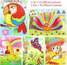 10PCS lot Different Crystal Diamond Mosaic Sticker Painting Kids Children Kindergarten Educational DIY Crafts Toys